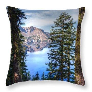 Crater Lake 1 Throw Pillow