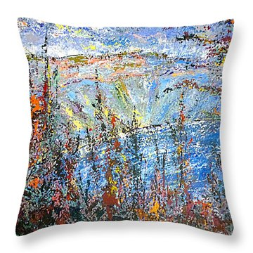 Crater Lake - 1997 Throw Pillow