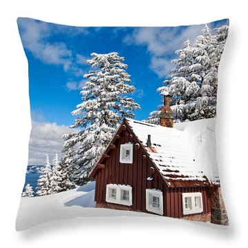 Crater Lake Throw Pillows