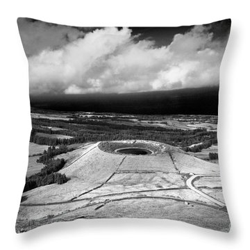 Crater Lake In Azores Throw Pillow by Gaspar Avila