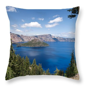 Crater Lake National Park Throw Pillow