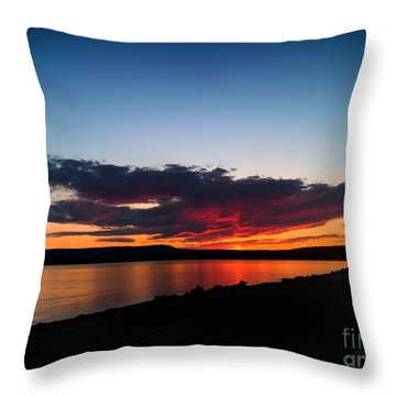 Crater Lake Yellowstone National Park Montana Throw Pillow by Thomas Woolworth