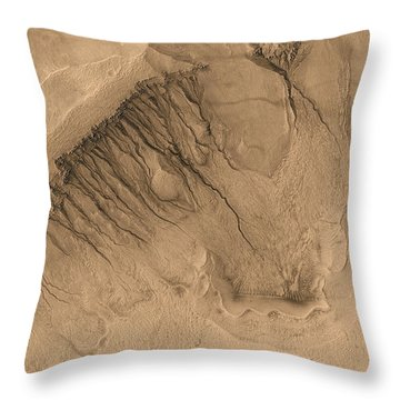 Crater On Mars Throw Pillow