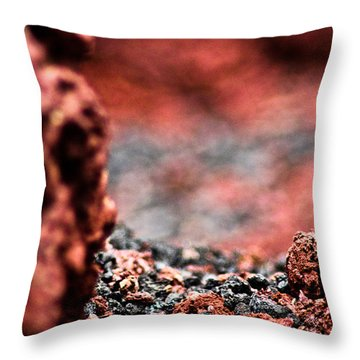 Craters Of The Moon 1 Throw Pillow by Joel Loftus