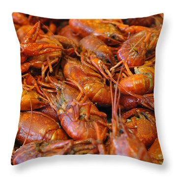 Crawfish Boil Throw Pillow by Steve Archbold