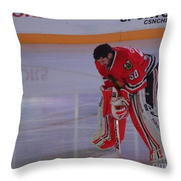 Crawford During The Anthem Throw Pillow