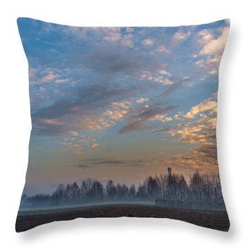 Crawling Mist Throw Pillow