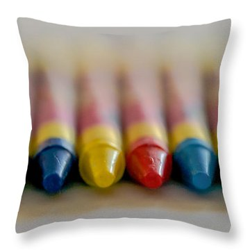 Throw Pillow featuring the photograph Crayons by Robert  Aycock