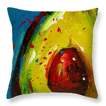 Crazy Avocado 4 - Modern Art Throw Pillow