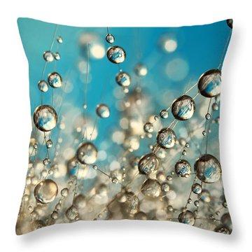 Crazy Cactus Droplets Throw Pillow