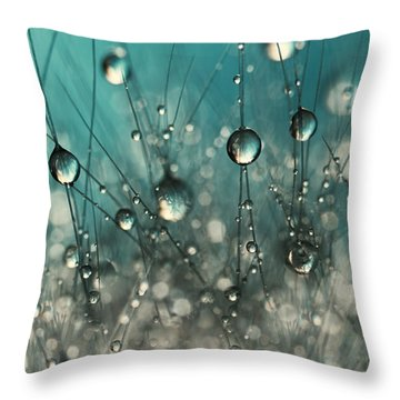 Crazy Cactus Sparkles Throw Pillow