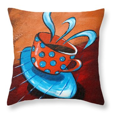Crazy Coffee Throw Pillow