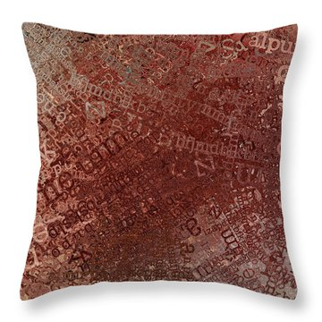Crazy Grunge Type Abstract Throw Pillow