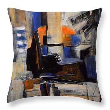 Crazy Legs Throw Pillow by Glory Wood