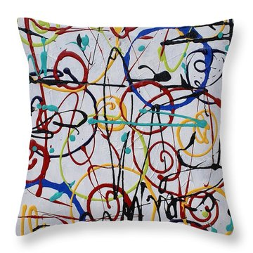 Crazy Motion Throw Pillow