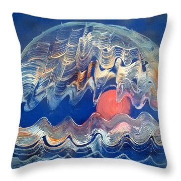 Crazy Oyster Throw Pillow