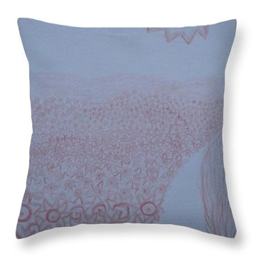 Throw Pillow featuring the drawing Crazy Quilt Star Gown by Thomasina Durkay