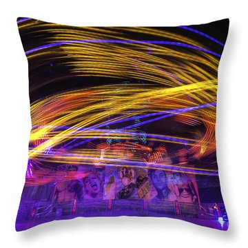 Crazy Ride Throw Pillow
