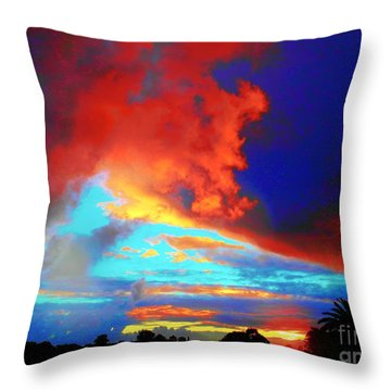 Throw Pillow featuring the photograph Strange Sunset by Mark Blauhoefer