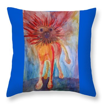 It Isn't Easy Being The Crazy Animal Throw Pillow