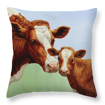 Cream And Sugar Throw Pillow