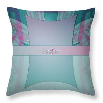 Cream Mint Line Throw Pillow