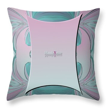 Cream Mint Mediterran Throw Pillow