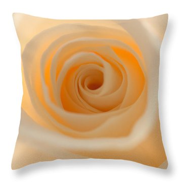 Cream Rose Throw Pillow