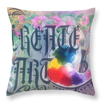 Create Art Throw Pillow