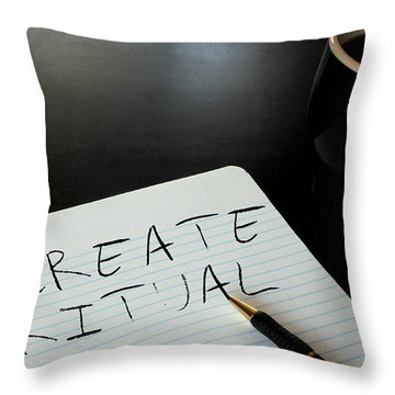 Create Ritual Throw Pillow