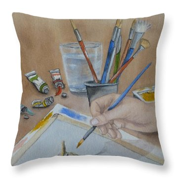Creating A Watercolor Throw Pillow by Kelly Mills