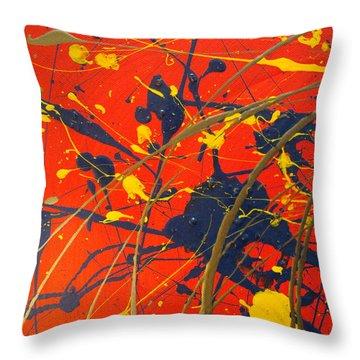 Creating Life Part One Throw Pillow by Sir Josef - Social Critic - ART
