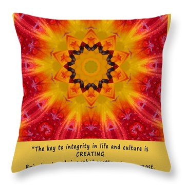 Creating Mandala Throw Pillow