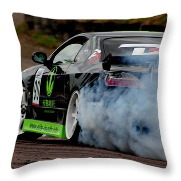 Creating Smoke Throw Pillow
