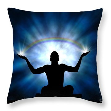 Creating The Rainbow Throw Pillow