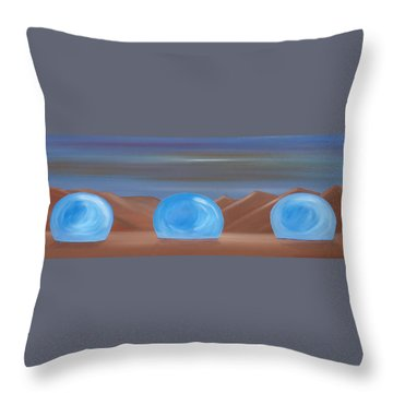 Throw Pillow featuring the painting Creation 1 by Tim Mullaney