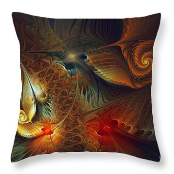 Creation-abstract Fractal Art Throw Pillow