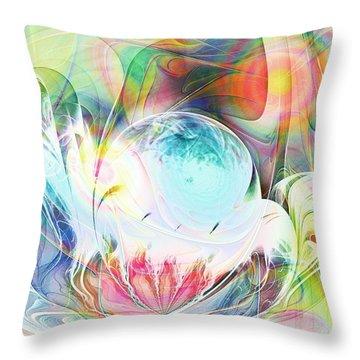 Creation Throw Pillow by Anastasiya Malakhova
