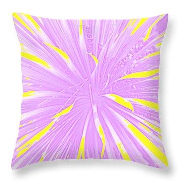 Throw Pillow featuring the photograph Creation Blust Of Plant Life by Carolina Liechtenstein