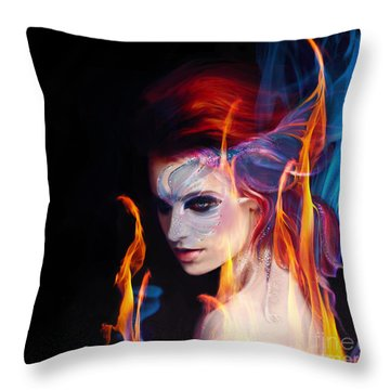 Creation Fire And Flow Throw Pillow