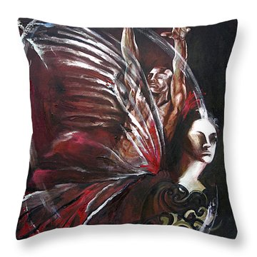 Creation Of Subspecies Throw Pillow by Karina Llergo