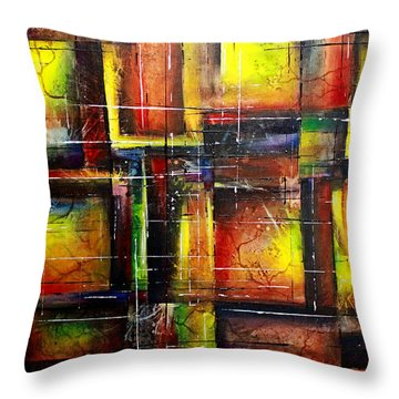 Throw Pillow featuring the painting Creation by Patricia Lintner