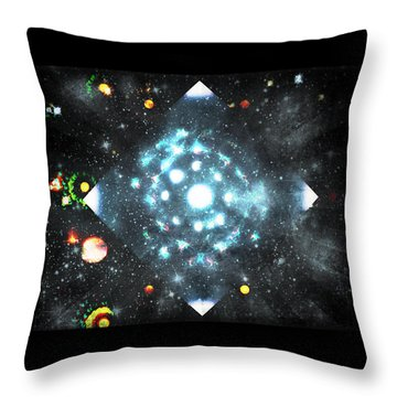 Creation Throw Pillow by Sherry Flaker