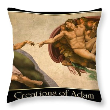 Creations Of Adam Throw Pillow