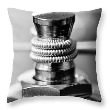 Creative Tension Black And White Throw Pillow by Wayne King