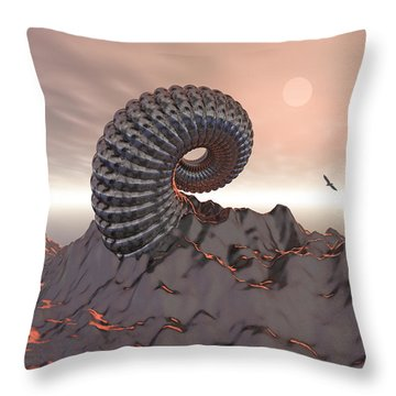 Creature Of The Mountain Throw Pillow by Phil Perkins
