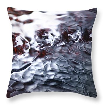 Creek Twirls Abstract Macro Throw Pillow