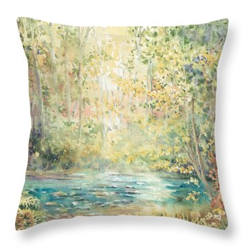 Creek Walk Throw Pillow