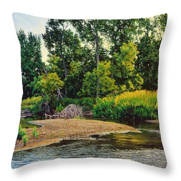 Creek's Bend Throw Pillow