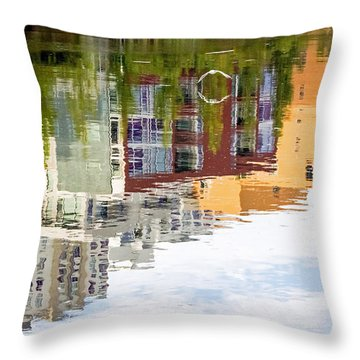 Creekside Reflections Throw Pillow